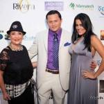 Tery Rivero, President of Ayuda Non Profit Organization, Oskar Rivera, Fashion Show MC, Elizabeth Bress
